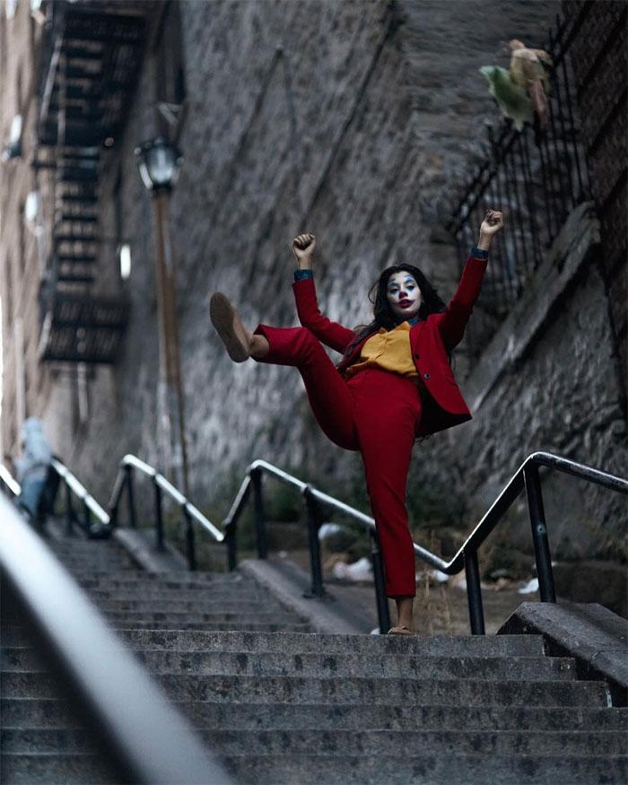 Tangga tempat Syuting Joker Manjadi Objek Wisata
