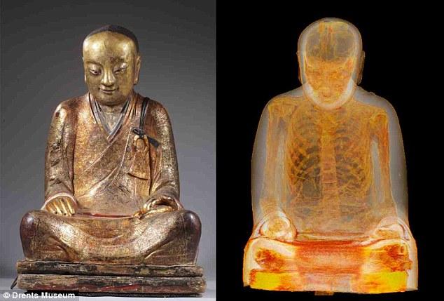 Patung Buddha Berusia 1000 Tahun Ditemukan Mengandung Kerangka Seorang Biksu