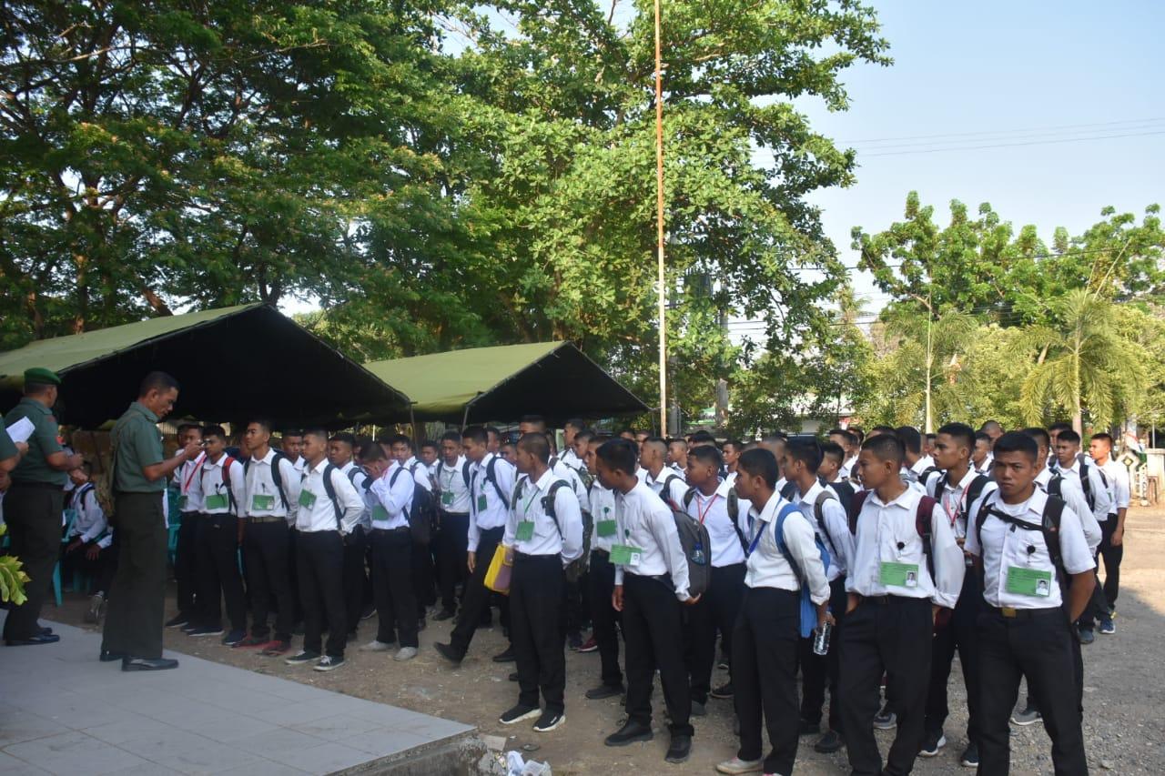 Sebanyak 103 Peserta Seleksi CATA PK TNI AD Gelombang II Tahun 2019 di hari pertama