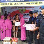Jelang HUT Brimob, Danyon Beserta Bhayangkari Ranting Yon C Pelopor Anjangsana ke Rumah Purnawirawan