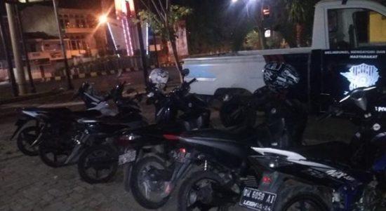 Polisi amankan 7 Motor yang diduga digunakan pelaku balap liar di Bone