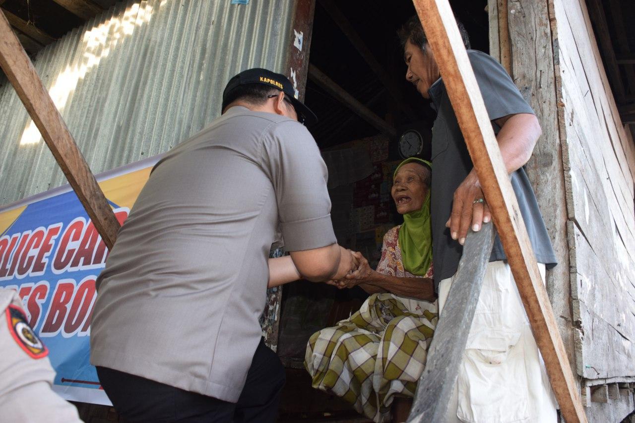 Police Care, Kapolres Bone berikan sembako kepada masyarakat kurang mampu