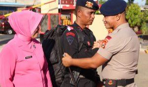 Danyon C Pelopor pimpin apel penyambutan personel Batalyon C purna tugas BKO Polda Papua Barat