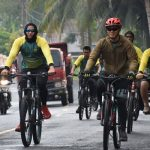 Personel Korem 141/Tp, Balakrem beserta PNS melaksanakan kegiatan Sepeda Santai