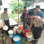 Operasi Miras, Polsek Barombong bersama TIM Anti Bandit Amankan Pelaku dan 350 liter Ballo