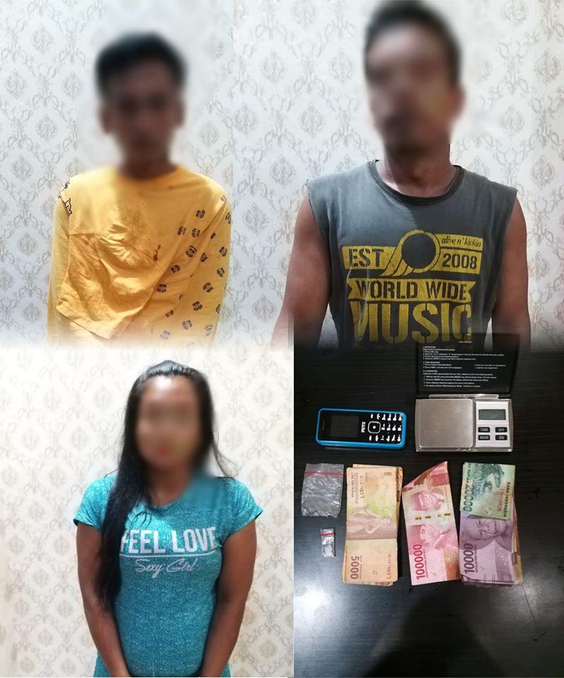 Polisi Gerebek Pasangan Pria dan Wanita yang diduga Pengedar dan Pengguna Narkoba di rumah Kostnya