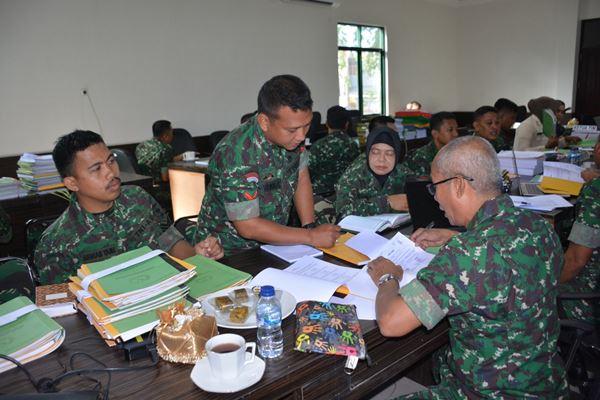 Hindari Terjadinya Penyimpangan, Tim Wasrik Itdam XIV/Hsn lakukan pemeriksaan di Korem 141/Tp