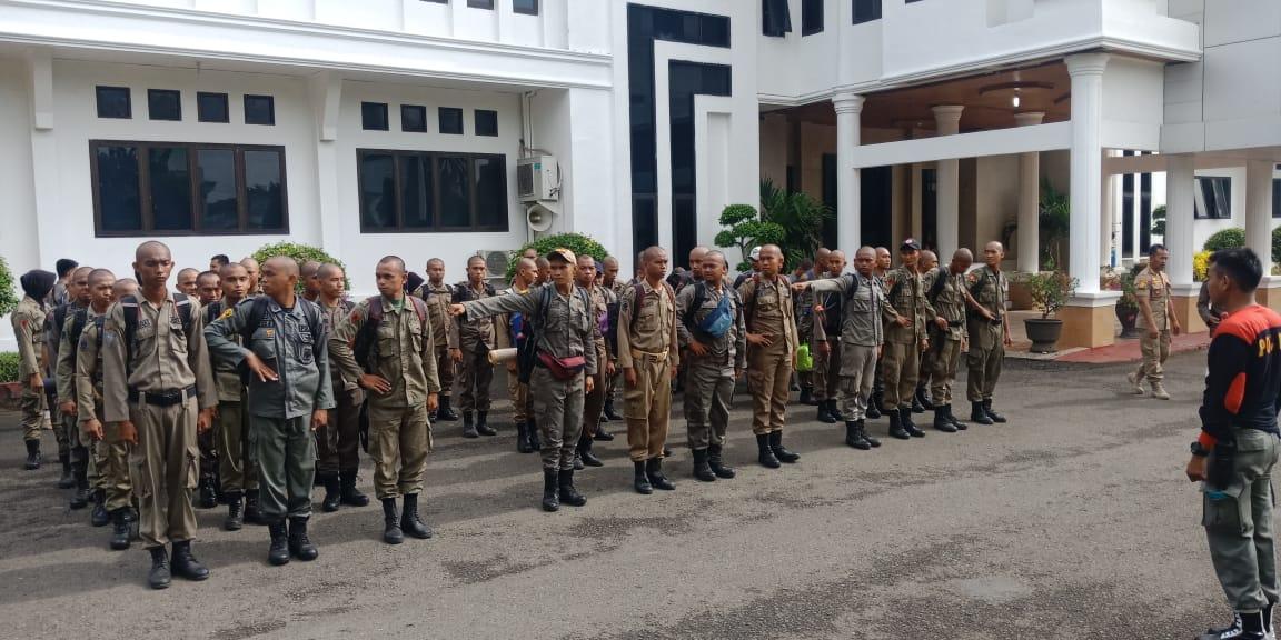 96 Orang Anggota SATPOL PP Bone ikuti Ikuti Pelatihan dan Pembaretan