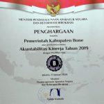 Dapatkan Predikat B, Pemda Bone Raih Penghargaan Akuntabilitas Kinerja Instansi Pemerintah