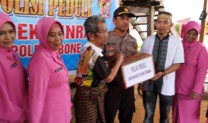 Polisi Peduli, Bhayangkari Polsek Cenrana Berikan Bantuan Kepada Penderita Stroke 10 Tahun