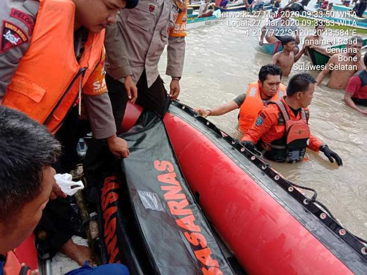 Korban Tenggelam di Perairan Sungai Walanae ditemukan sudah tak bernyawa