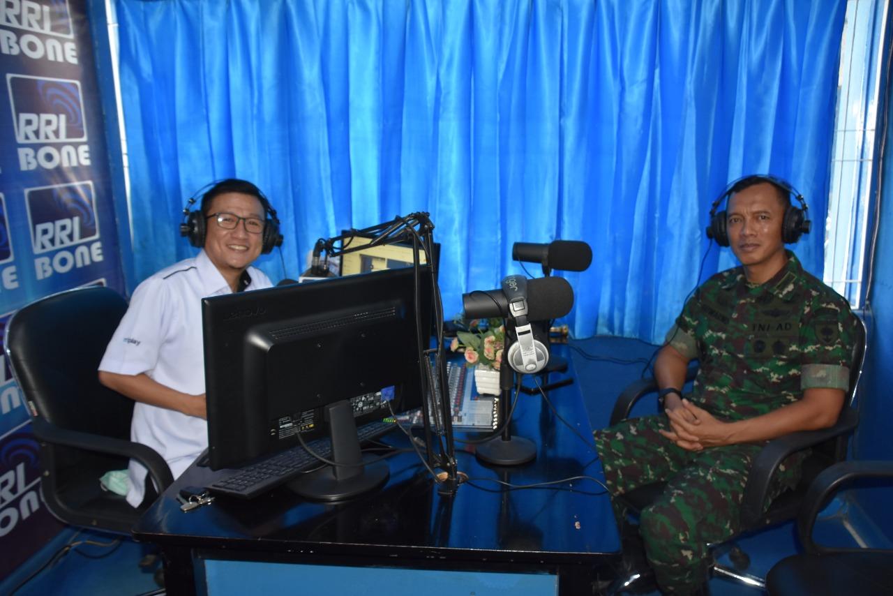 Danrem 141 Berikan Himbauan Pencegahan Covid-19 Melalui Radio