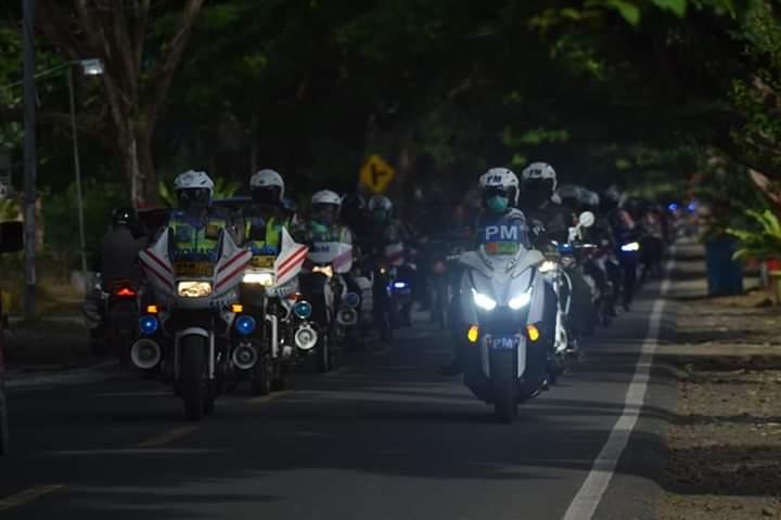 Apel Gabunga dan Patroli Skala Besar Dalam Rangka Kesiapan Anggota Menghadapi Contijensi Wabah Covid-19
