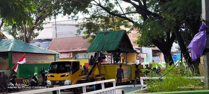 Jelang Bulan Ramadhan, SATPOL PP Bone Tertibkan Lapak Dagang Kaki Lim