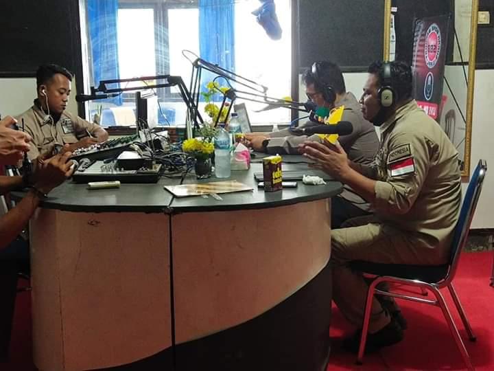 Kapolres Hadiri Dialog Interaktif Program Penanganan Covid-19 di Radio Suara Bone Beradat