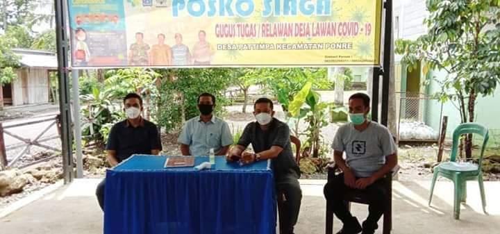 Bhabinkamtibmas Bersama Babinsa Desa Ponre Lakukan Pengamanan Kunjungan Anggota DPRD Sulsel