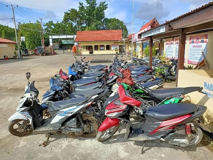Tim Balap liar Satlantas Polres Bone Amankan 23 Sepeda Motor