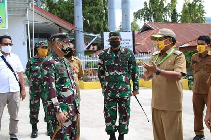 Danrem 141 tinjau langsung sasaran Karya Bhakti TNI-Pemda Soppeng di Gellenge Kec. Marioriawa