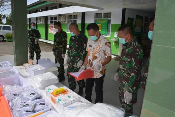 TNI AD Serahkan ALKES Berupa Swab, UTM dan Rapid Test ke jajaran Rumah Sakit Dr M Yasin Bone