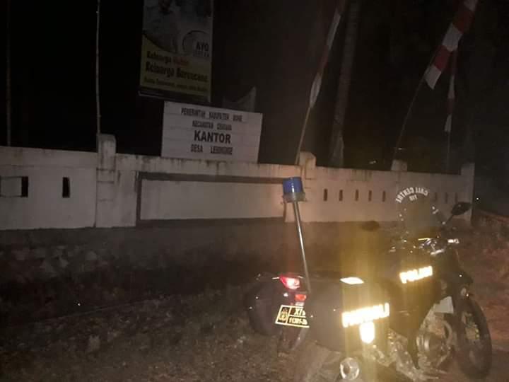 Tekan Tindak Kriminal di Wilayah Hukumnya, Polsek Cenrana Giat Patroli Malam