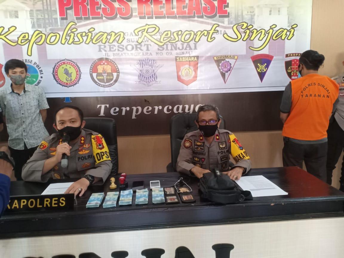 Peras Perangkat Desa, Oknum Wartawan di Sinjai di Ciduk TIM Saber Pungli