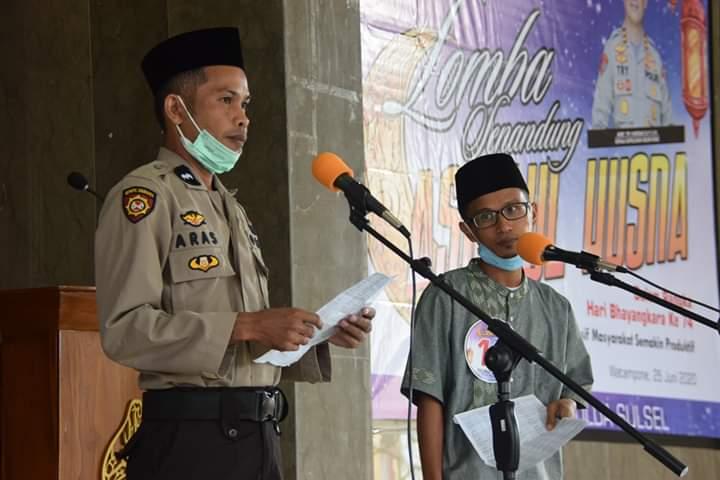 Sambut Hari Bhayangkara Ke-74, Polres Bone Gelar Lomba Senandung Asmaul Husna