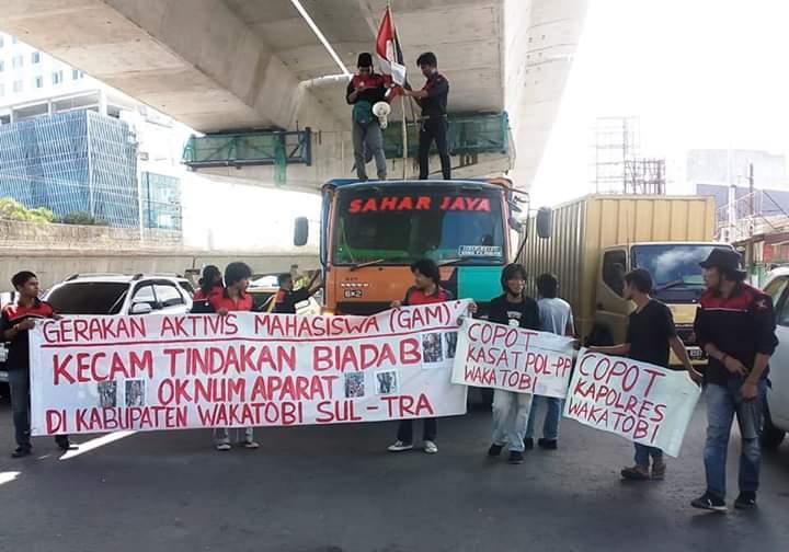 Gelar Aksi di Makassar, Aktivis GAM Desak Kapolri Copot Kapolres dan Kasatpol PP Wakatobi