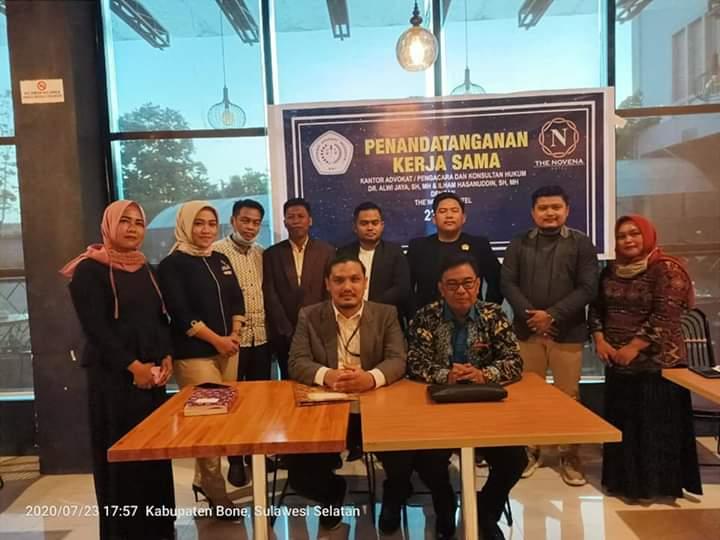 Novena Hotel dan AAI Bone Lakukan Penandatanganan Konsultan Hukum