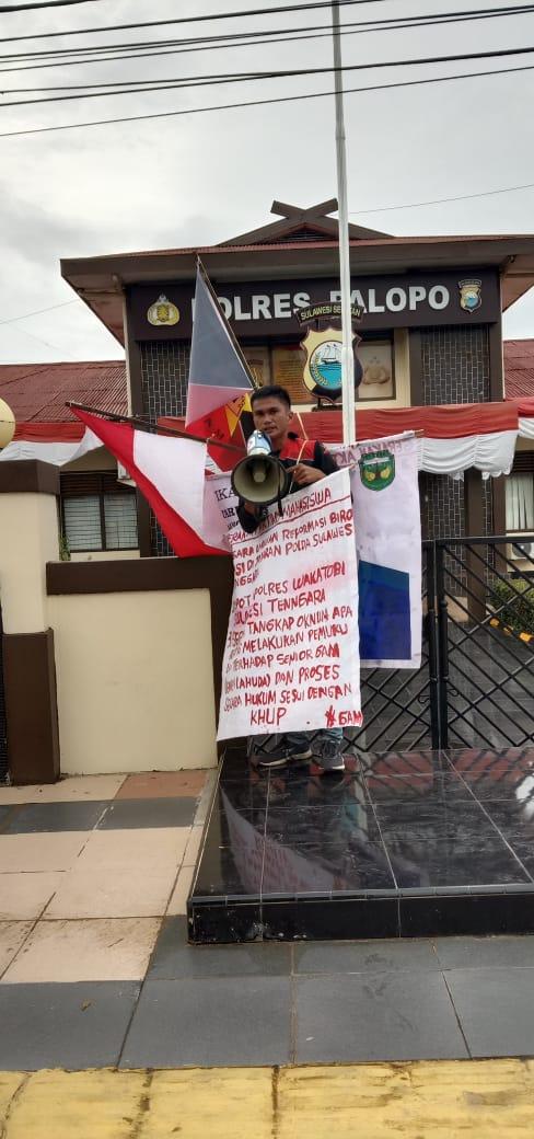 Gelar Aksi Solo di Polres Palopo, Ini tuntutan Kader GAM