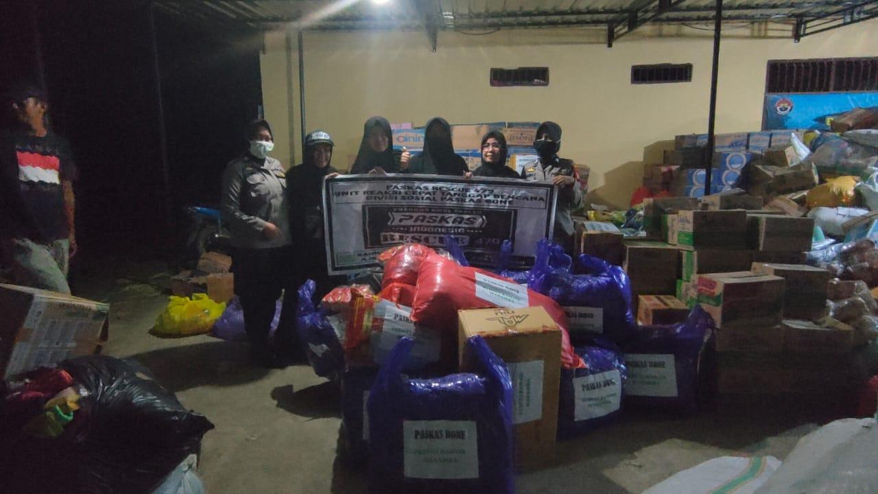 Peduli Korban Bajir Lutra, PasKas Bone Salurkan Bantuan Hasil Donasi
