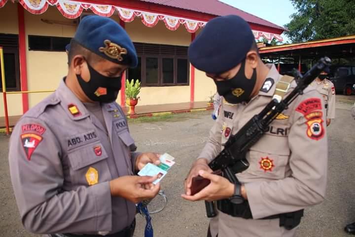Cek kelengkapan kendaraan dan data personel Yon C Pelopor, Danyon: personel Polri harus menjadi panutan bagi masyarakat