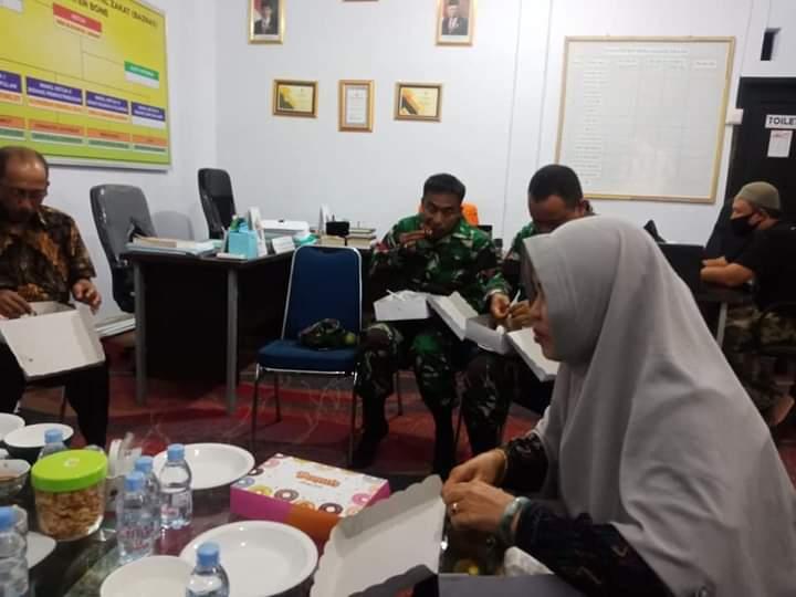 Pasca Pelantikan, Dandim Bone Silaturahmi dengan pengurus BaZnas Bone