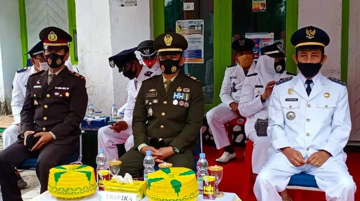 Ditengah Pandemi, Upacara Peringatan HUT Proklamasi di Kecamatan Tellu Siattinge di Gelar Sederhana