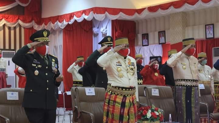 Bupati Bersama Forkopimda Bone, Ikuti Vidcon Upacara HUT RI yang Berlangsung di Istana Negara