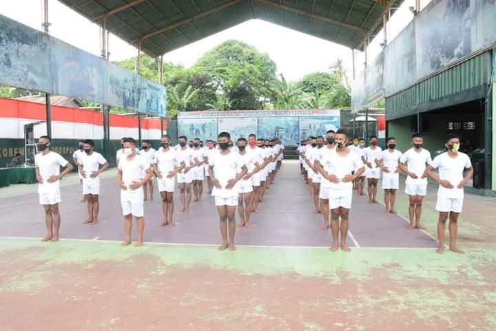 447 Calon Bintara TNI AD mengikuti Sidang Parade Caba Sub Panda Bone TA. 2020