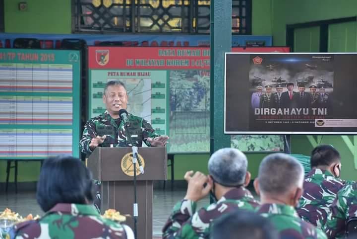 Upacara HUT TNI Ke - 75 Dengan TEMA Sinergi Untuk Negeri Dilakukan Secara Virtual