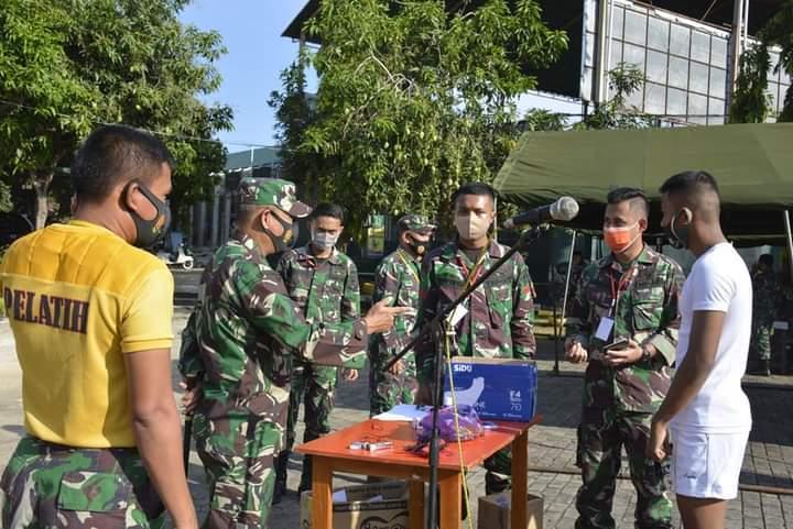 Danrem 141 TP Pantau Langsung Seleksi Penerimaan CATA PK TNI AD Gelombang II 2020