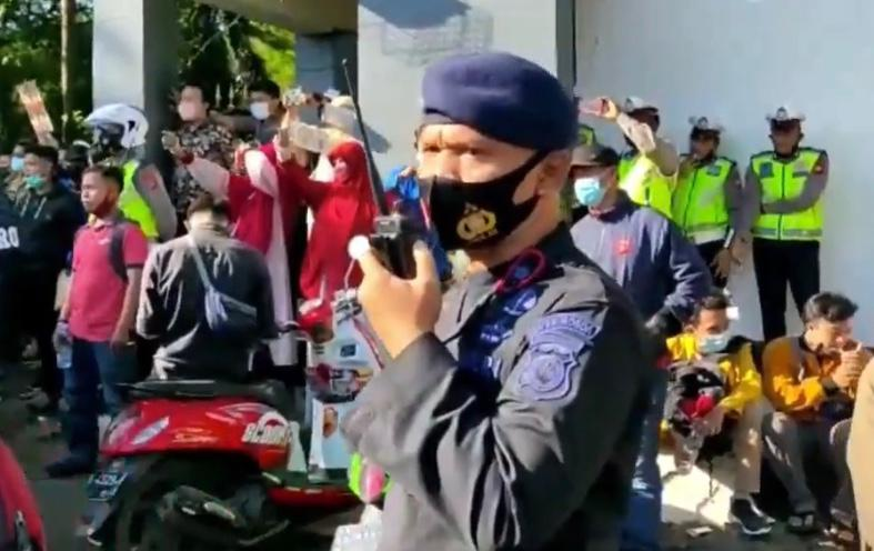Tuntaskan Pengamanan Aksi Penolakan UU Omnibus Law di Makassar, Ratusan Personil Yon C Pelopor kembali ke Bone