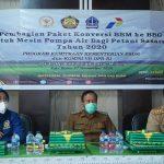 Wakil Bupati Bone Hadiri Distribusi Paket Conversi BBM ke BBG Mesin Pompa Air Bagi petani Sasaran