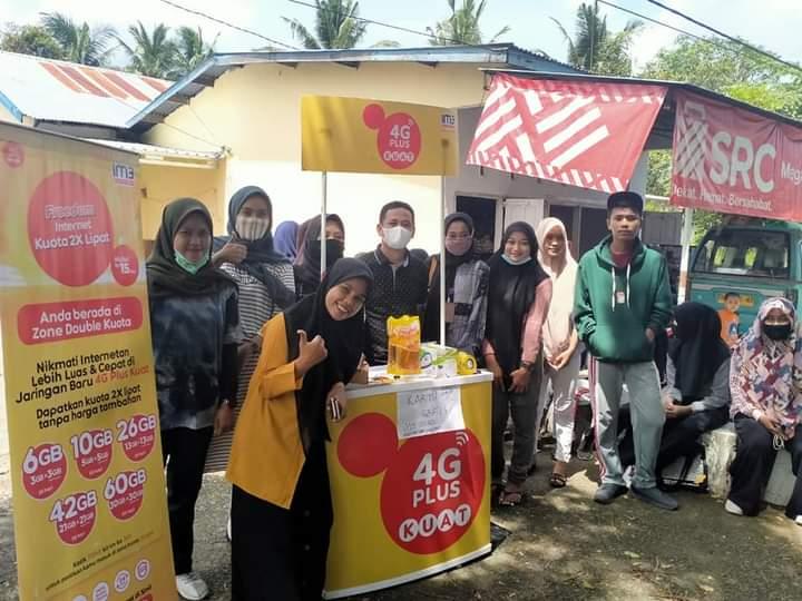 Bekerjasama Indosat, Patroli Keamanan Sekolah Berbagi Paket sembako dan Data Seluler untuk kebutuhan belajar siswa