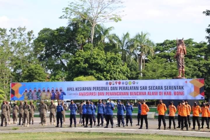 Wakil Bupati Bone Pimpin Apel Kesiapan Personil lintas sektoral dalam menghadapi Bencana Alam
