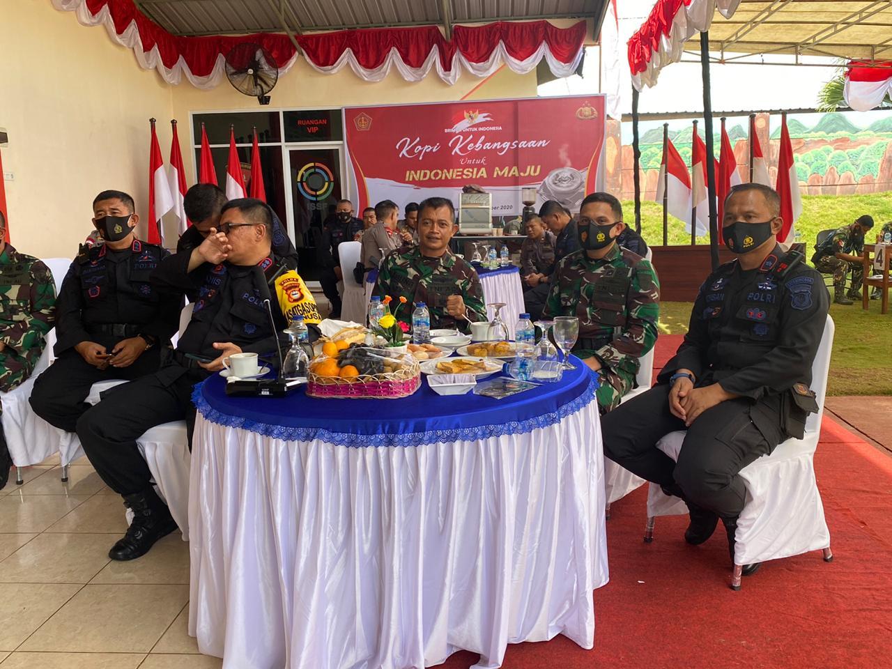 Pererat Silaturahmi, Sat Brimob Polda Sulsel Menggelar Coffe Morning di Lapangan Tembak Batalyon A Pelopor