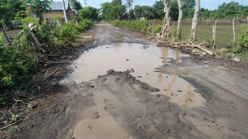 Rusak Parah, Jalan Poros Kecamatan Bangkala Barat Butuh Perhatian Pemerintah