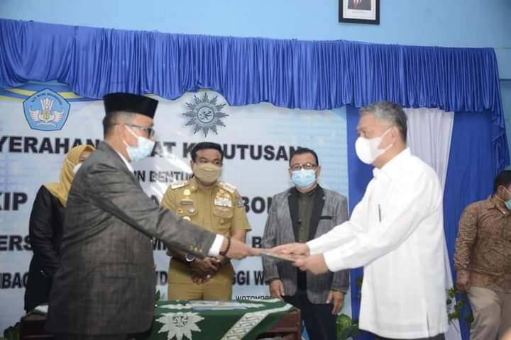 Bupati Bone Hadiri Penyerahan SK Perubahan Bentuk STKIP Muhammadiyah Bone Menjadi Universitas