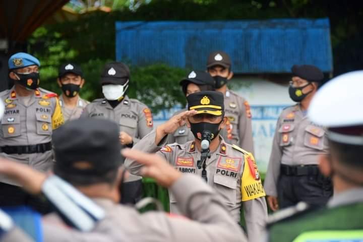 681 Personil Polres Bone Diterjunkan Dalam Pengamanan Malam Pergantian Tahun 2020 - 2021