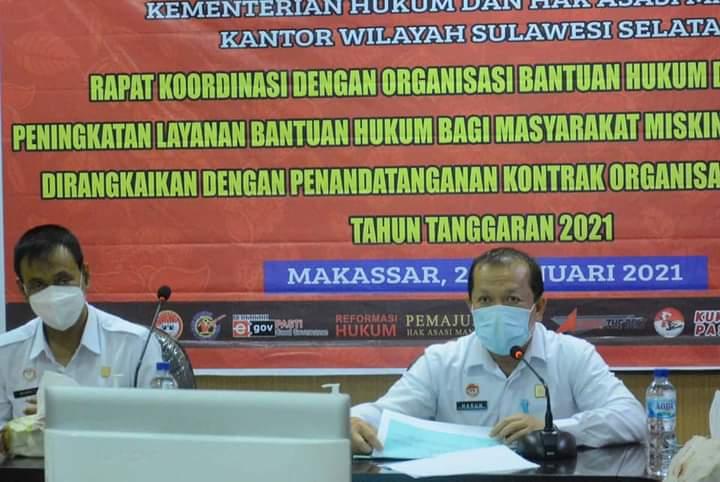 Satu satunya yang terakreditasi di Bantaeng, LBH Butta Toa Tanda Tangan Kerja Sama Kanwil Kemenkumham Sulsel