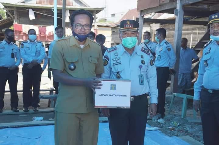 Lapas Kelas IIA Watampone Berikan Bantuan Kepada Korban Kebakaran di Desa Lamuru