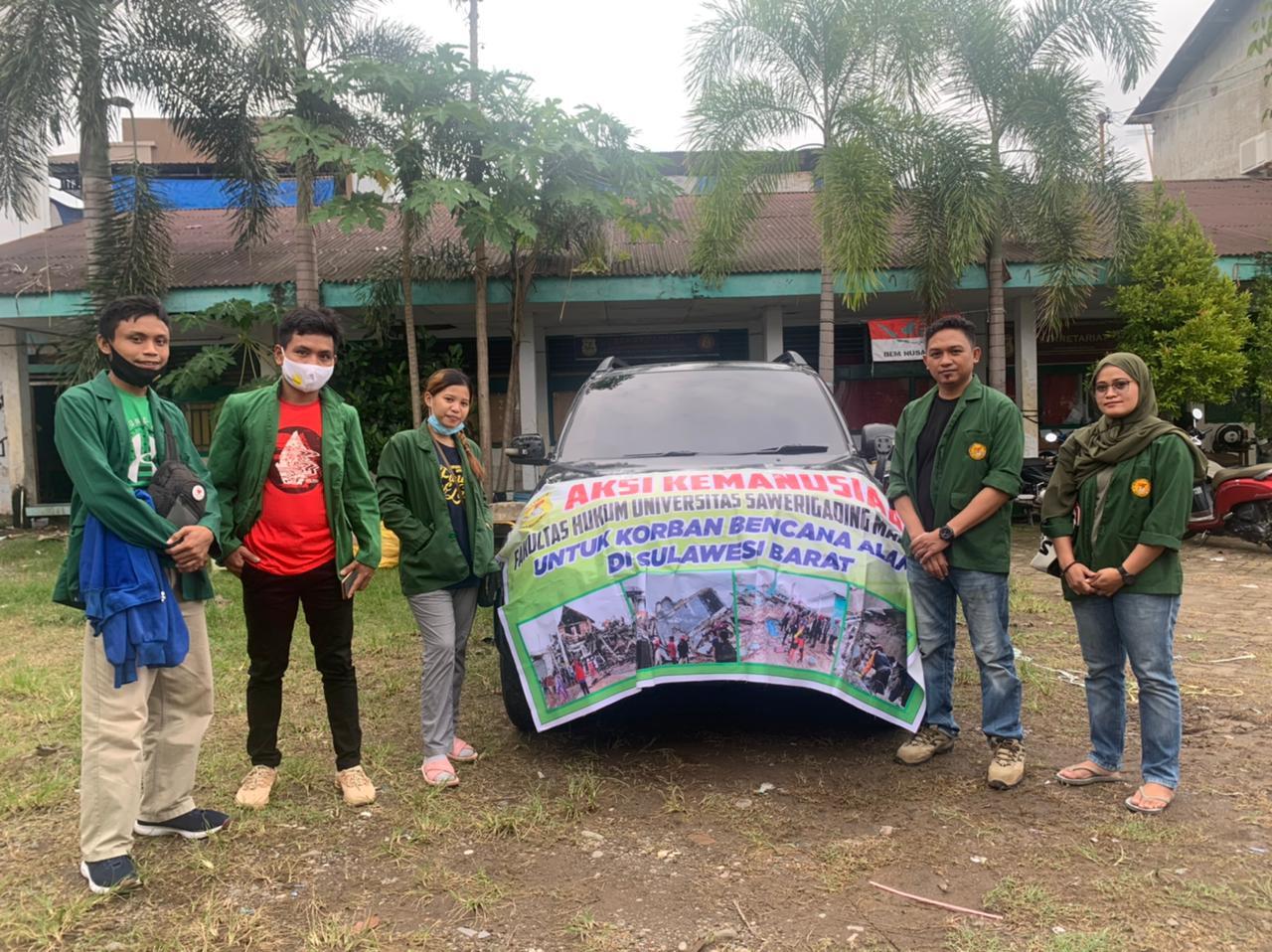 Dekan FAK Hukum UNSA Makassar Lepas Bantuan Untuk Korban Gempa Sulbar