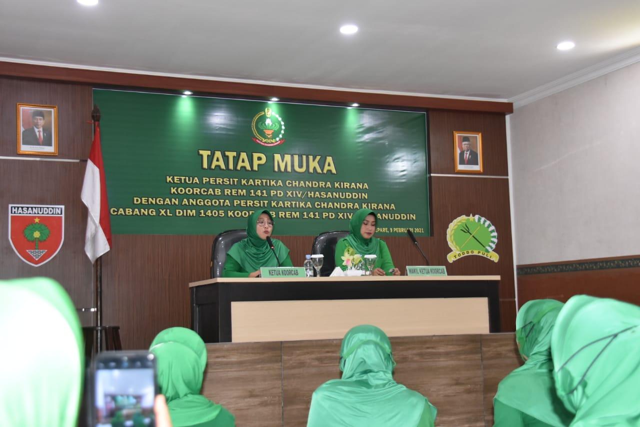 Ketua Persit KCK Koorcab Rem 141 PD XIV Hasanudin Kunker ke Kodim Parepare