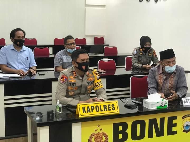 Kapolres Bone Ikuti Silaturahmi Virtual dengan Kapolda Sulsel dan Ketua PBNU